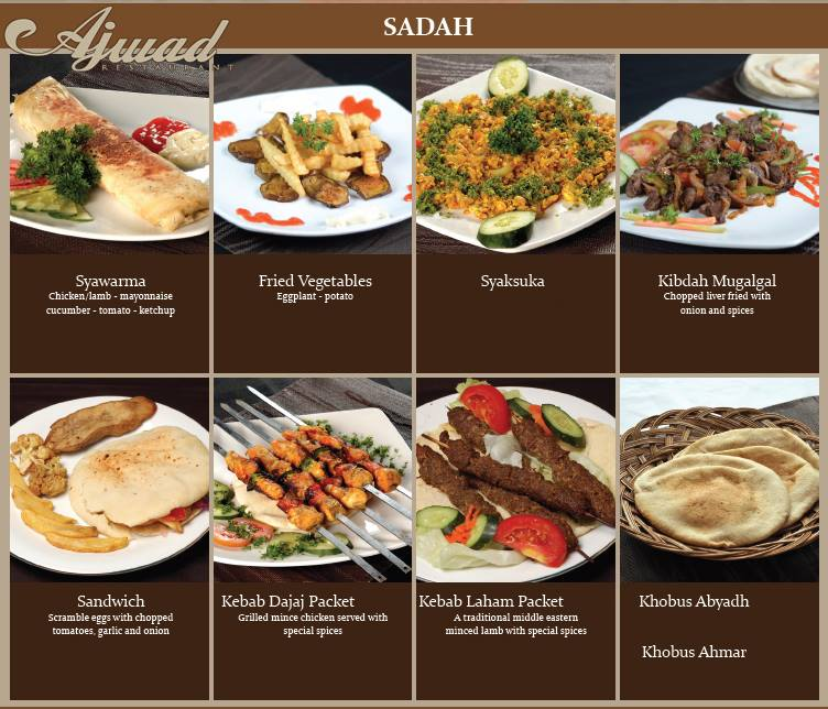 Ajwad resto original arabian cuisine for Arabian cuisine menu